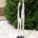 Dřevořezba - Dvojce žiraf