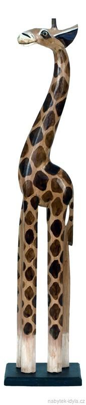 Dřevořezba - Žirafa 80cm
