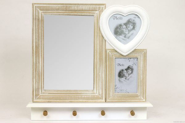 Set fotorámečků se zrcadlem
